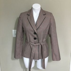 Evan Picone checkered Blazer Coat